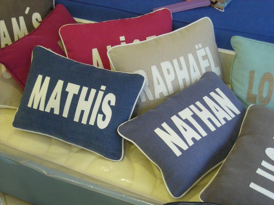 confection de Coussins Prenoms
